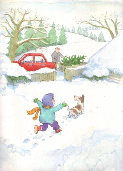 Marek in the snow - size: 200 x 280