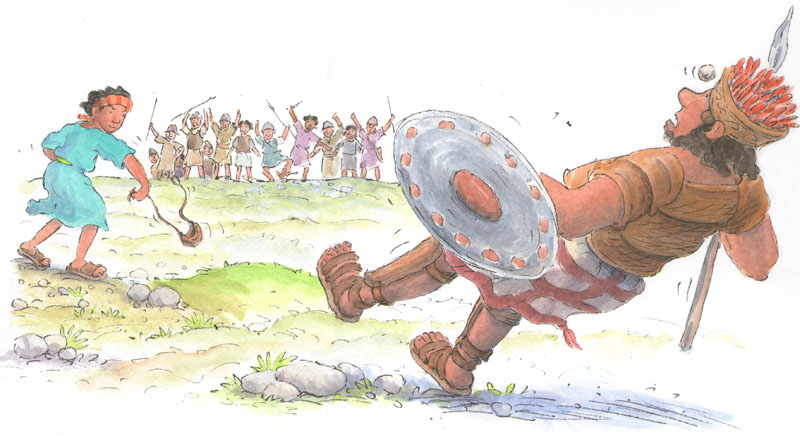 David and Goliath - size: 340 x 185