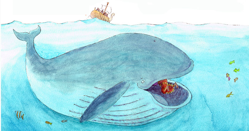 Jonah in the Whale - size 350 x 185