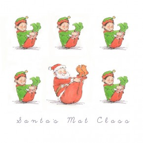 Santa's Mat Class. Greeting : Have a Pilates perfect Christmas
