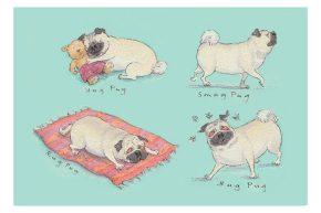 four pugs!x2