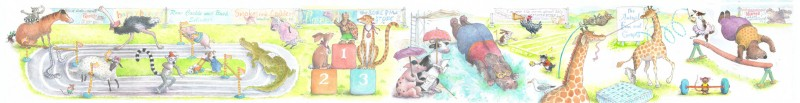 Animal fun and games - 1350mm X 160mm